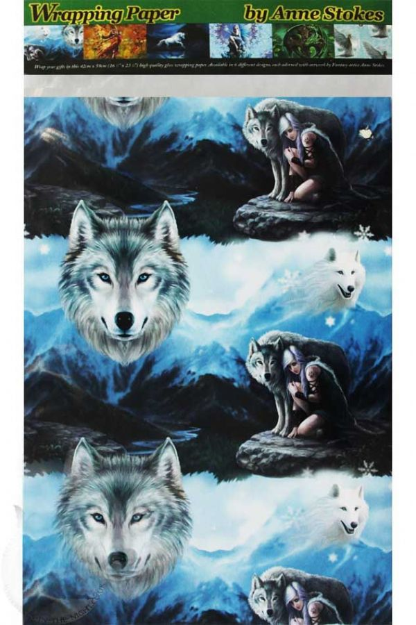 ANNE STOKES Protector Wolf Wrapping Paper